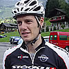 Inferno Triathlon 2006: Team Stöckli am Start mit Team Captain und Mountain Biker Roger Dittli